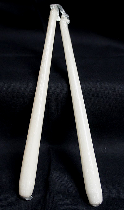 2 Pack-12 Inch Ivory Taper Candles
