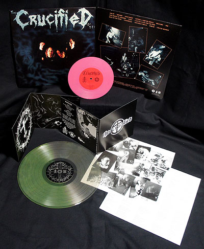 The Crucified - Nailed/Demo [2 LP Clear-Green/Pink] Bundle