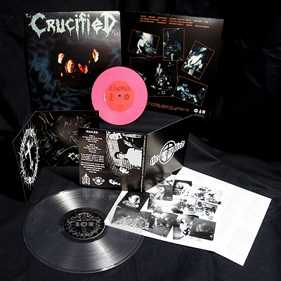 The Crucified - Nailed/Demo [2 LP Pink/Clear] Bundle